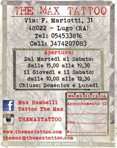 Biglietto visita RETRO Tattoo The Max