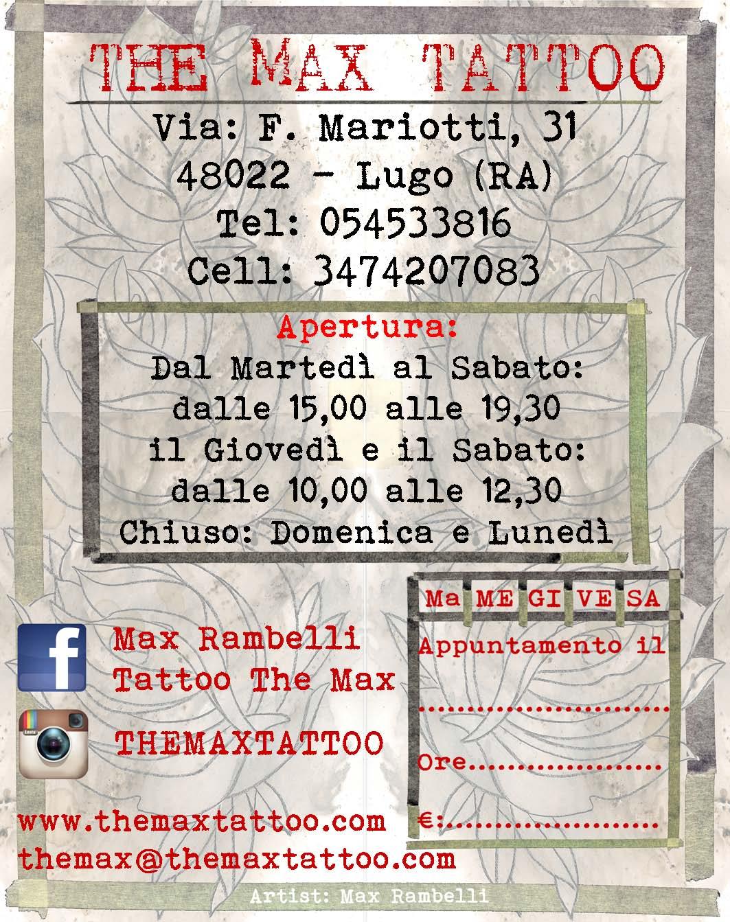 abbastanza DOWNLOAD | The Max Tattoo | Tattoo studio a Lugo (RA) OP42